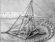 Leonardo da Vinci, Design for a Digging Machine